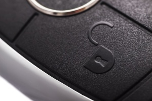Here is an image of an unlock button on a key fob