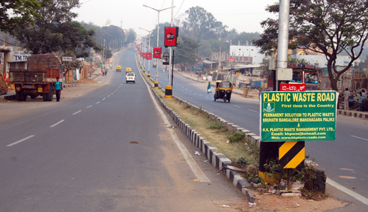 Roads Made Of Recycled Plastic